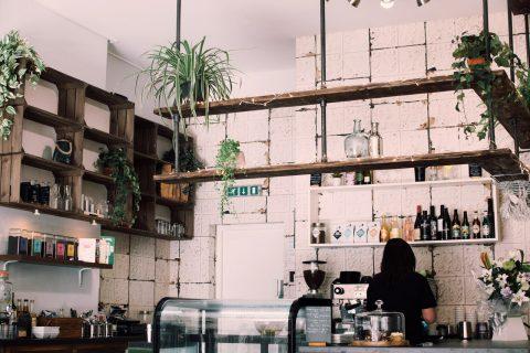 Kök med cafékänsla