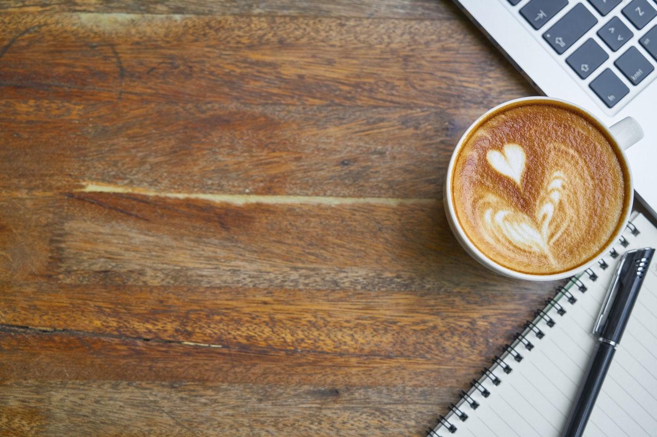 Kaffe med ett hjärta